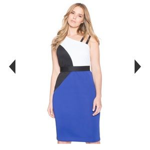 Eloquii Colorblock Scuba Dress